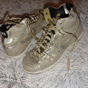 Nike Blazer premium gold foil sparkle shoes